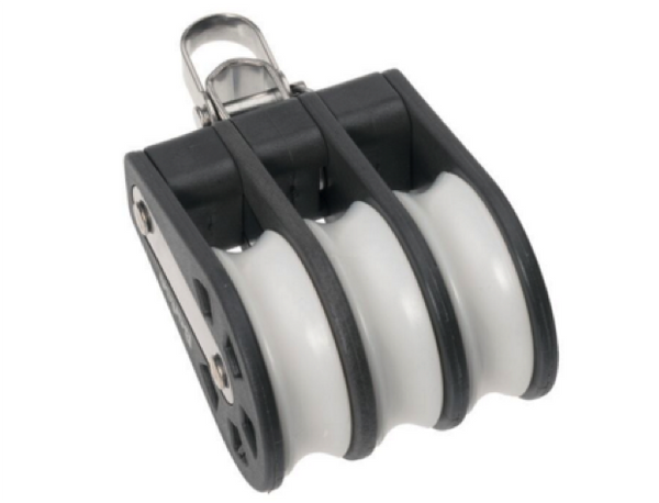 Barton Triple Plain Block Reverse Shackle Size 3 - 45mm Sheave