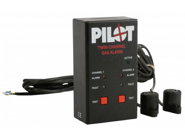Pilot Twin Gas Alarm 12/24v - 2018 Model