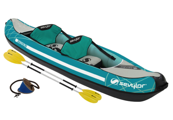 Sevylor Madison Inflatable Kayak Kit - 2 x Kayak Paddles, Foot Pump -  2 Person - 2019 Model