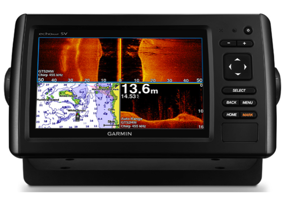 "Garmin echoMAP CHIRP 75sv 7"" Chartlotter / Sonar Exc Txd - Preloaded UK, Ireland & NW mainland Europe coast maps"
