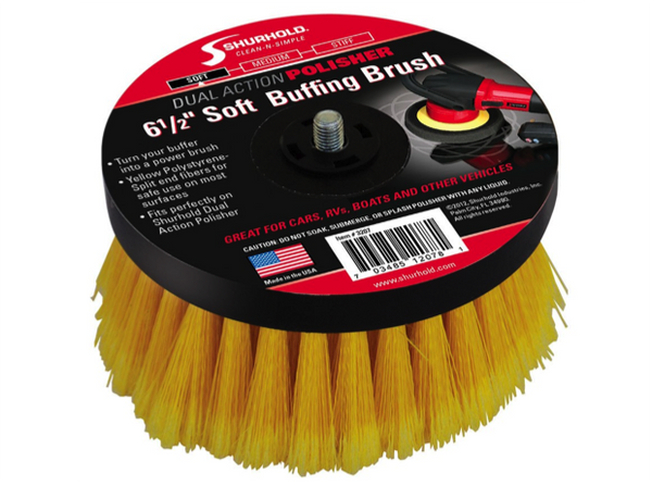 "Shurhold 6.5"" Soft Buffing Brushes Stiff, Medium & Soft"