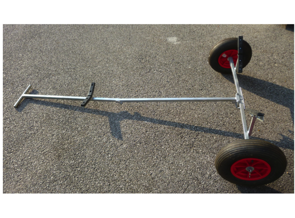 Galvanised Folding Dinghy Trolley