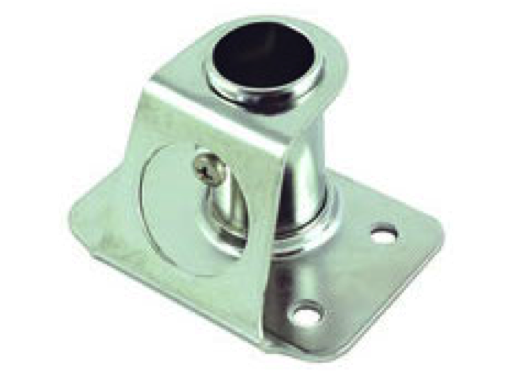 HYE Square Stanchion Base Stainless Steel - 85/90 Degrees