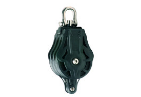 Wichard 70mm Triple Block with Swivel Head & Becket - Plain or Ball Bearing