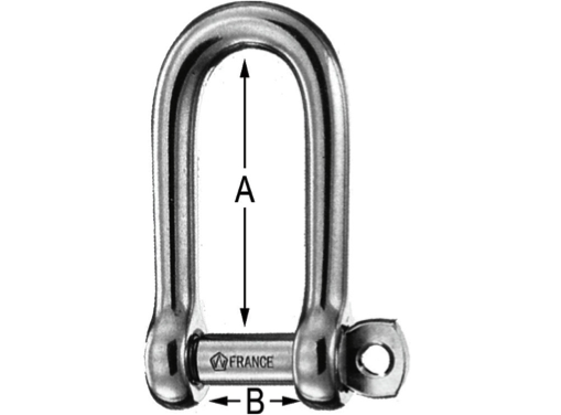 Wichard Stainless Steel Self-Locking Long Shackle - All Sizes