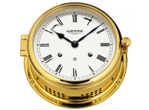 Wempe Admiral II Series Mechanical Bell Clock 185mm - Brass Case