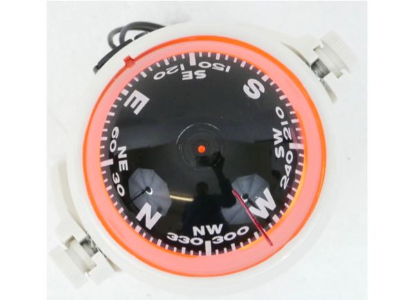 Magnetic Navigation Compass – Compact - Colour White