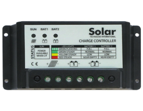 10A Solar Panel Dual Battery Charge Controller