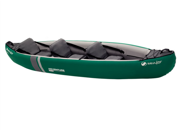Sevylor Adventure Plus Inflatable Kayak - 2 + 1 Person with Sevylor KC _Compact 215 Paddles & Bravo 4 Pump - New 2019 Model