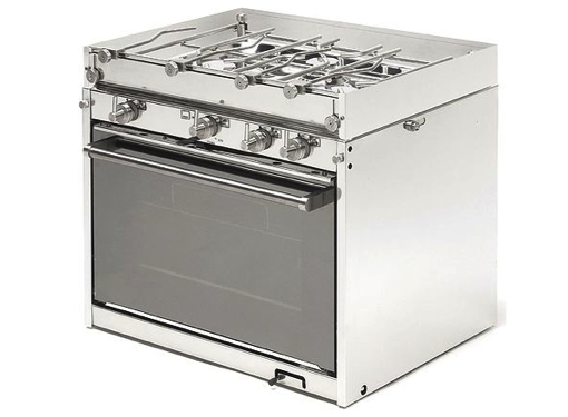Techimpex Top3 Cooker - 3 Burner Hob, Oven & Grill, Pan Clamps, Gimbals