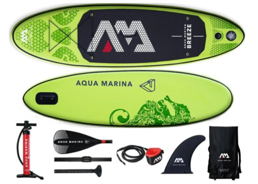 Aqua Marina Breeze Inflatable SUP - Complete Package - 2019 Model