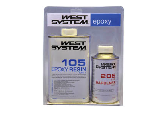 West System A Pack 105 Epoxy Resin  + 205 Hardener 1.2kg