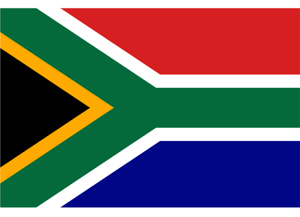 South Africa Courtesy Flag Polyester 45 x 30cm