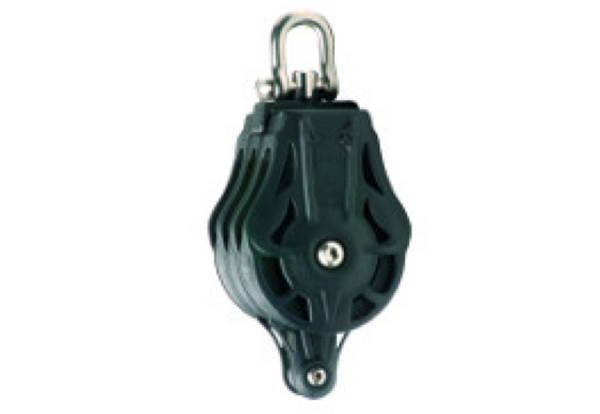 Wichard 55mm Triple Block with Swivel Head & Becket - Plain or Ball Bearing