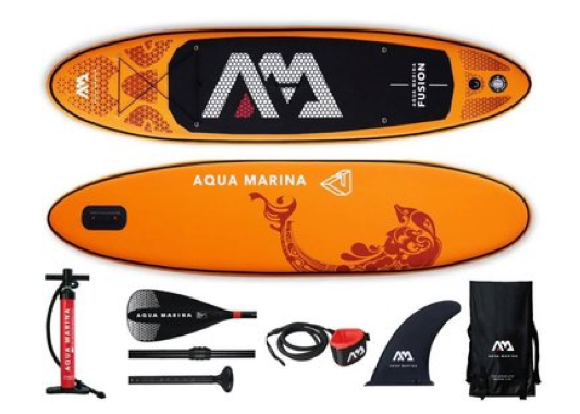 "Aqua Marina Fusion Inflatable SUP - 10'4"" - New 2019 Model - Complete Package"