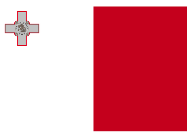 Malta Courtesy Flag Polyester 45 x 30cm