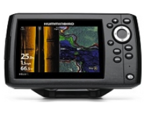 "Humminbird HELIX 5 CHIRP SI GPS Fishfinder/Plotter 5"" With Navionics Gold Small"