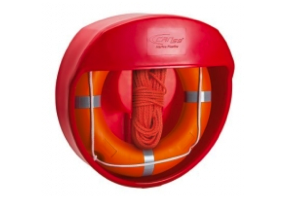 CAN Ponza Lifebuoy Container only Wall Mount / Post Mount