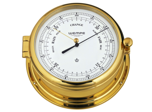Wempe Admiral II Series Barometer 185mm - Brass Case
