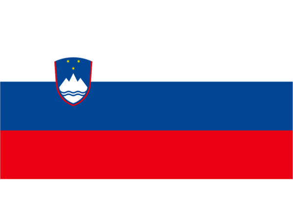 Slovenia Courtesy Flag Polyester 45 x 30cm