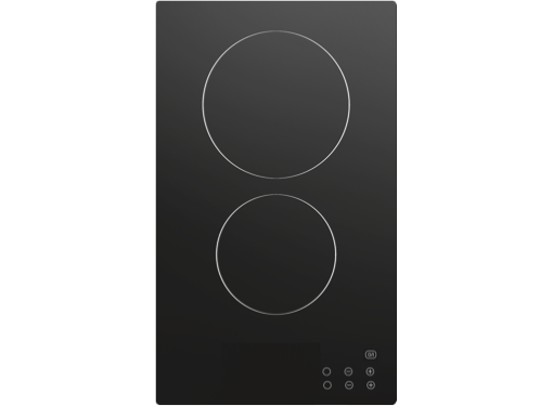 Techimpex Crystal 2 Frameless 110-230V Double Burner Ceramic Hob with Touch Control Technology