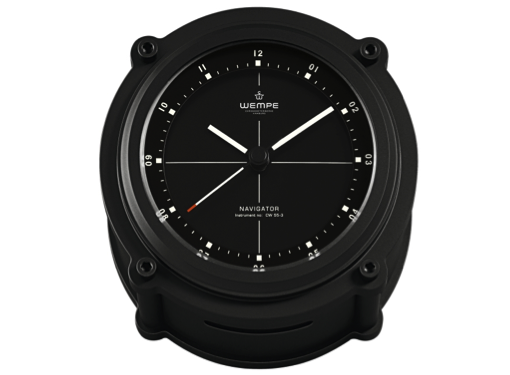 Wempe Navigator II Series Quartz Clock 130mm Black