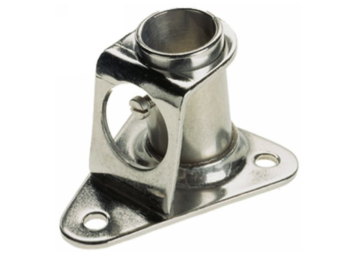 HYE Stainless Steel Triangle Stanchion Base - 85/90 Degree