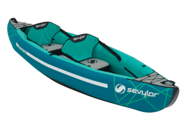 Sevylor Waterton Inflatable Kayak with 2 x Paddles & Stirrup Pump - New 2019 Model