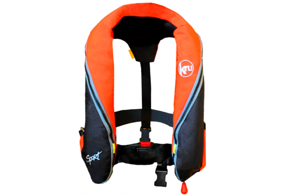 Special Offer - 2017 Kru Sport 185N Automatic Lifejacket Orange / Black - Buy 3 get 1 Free