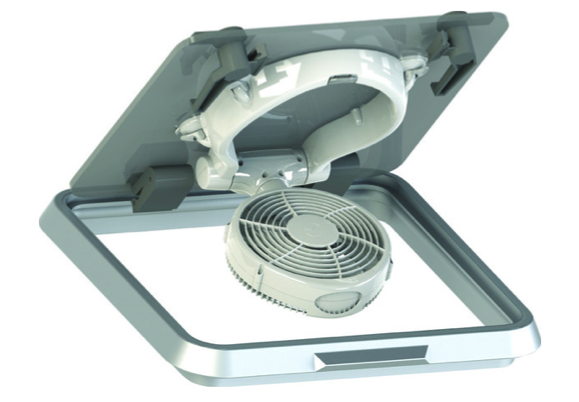Caframo Taku - Hatch Mounted Fan White 12v