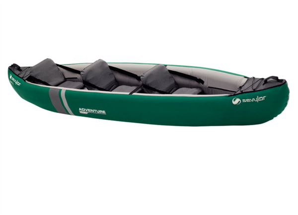 Sevylor Adventure Plus Inflatable Kayak - 2 + 1 Person with Free Bravo Paddles & Pump with £80.00 & 2 x Baltic Canoe Buoyancy Aids - New 2019 Model