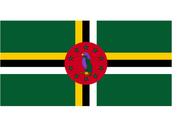 Dominica Courtesy Flag Polyester 45 x 30cms