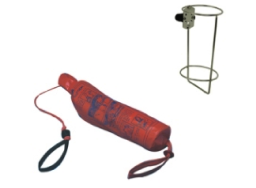 Waveline 30m Throwing Line in Bag with Stainless Steel Rail Mount Holder