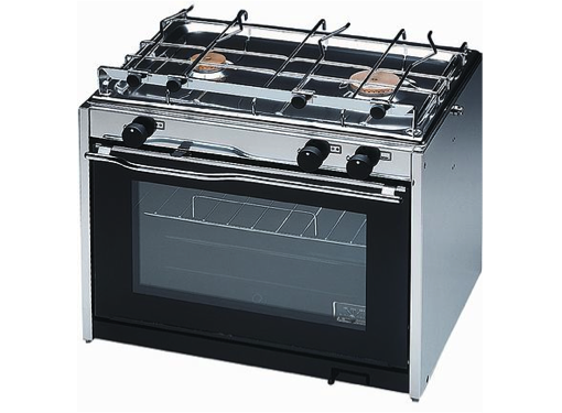Techimpex XL2 Cooker - 2 Burner Hob, Oven with Pan Clamps & Gimbals