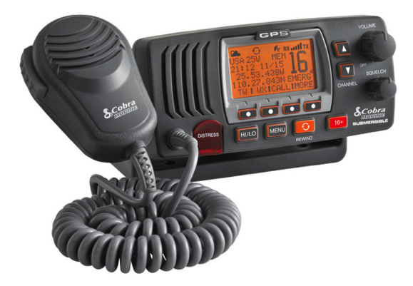 Cobra F77 Fixed VHF Marine Radio - Grey