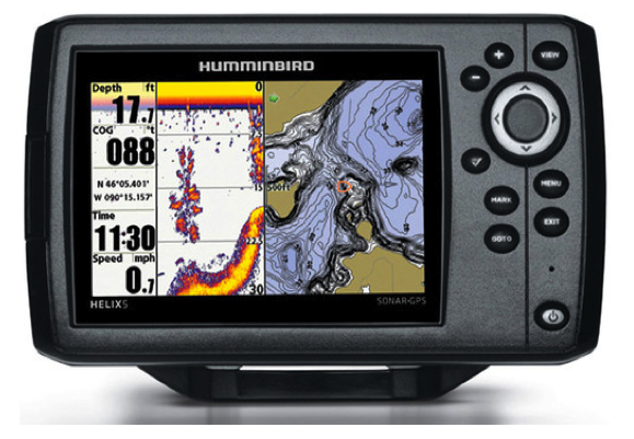 "Humminbird HELIX 5 SONAR GPS Fishfinder/Plotter 5"" With Navionics Gold Small"