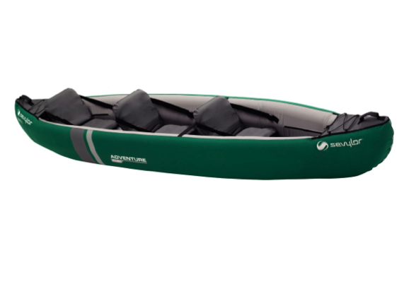 Sevylor Adventure Plus Inflatable Kayak 2 + 1 - 2019 Model - With Free Paddles & Pump worth £80.00 - Whilst Stocks Last