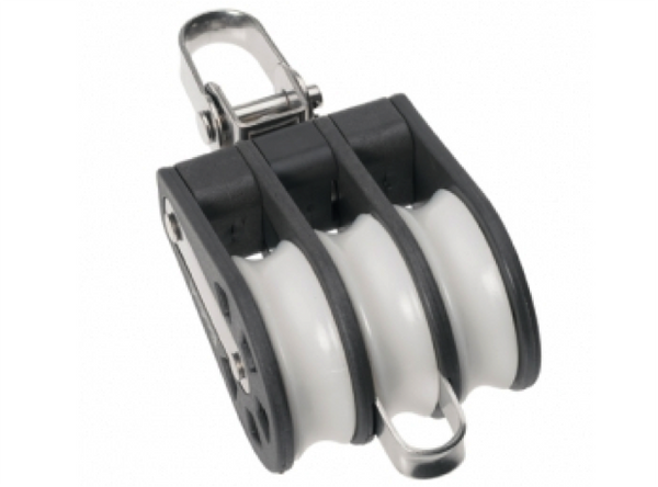 Barton Triple Block Swivel with Becket, Size 1-30mm