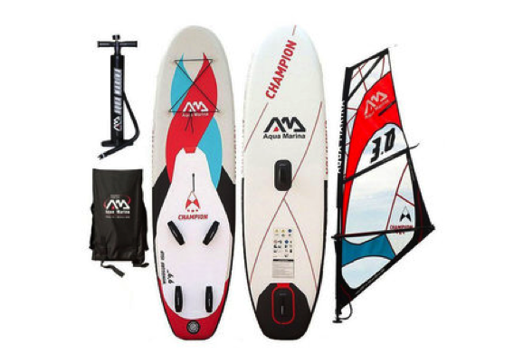 "Aqua Marina Champion 9'9"" Inflatable Windsurf / SUP Allround Crus"