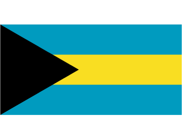 Bahamas Courtesy Flag Polyester 45 x 30cms