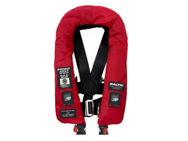 Baltic 300 M.E.D./SOLAS Inflatable Twin Chamber Lifejacket with Harness
