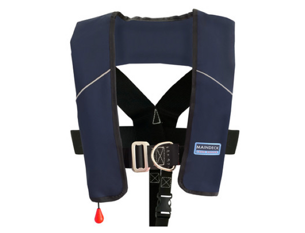 Maindeck ISO 180N Lifejacket with Harness UML Auto Navy