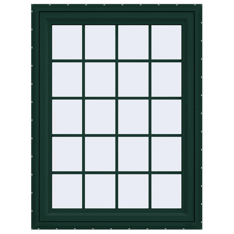 V-4500 Series Left-Hand Casement Vinyl Window with Grids