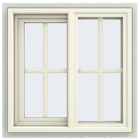 V-4500 Series Left-Hand Sliding Vinyl Window with Grids