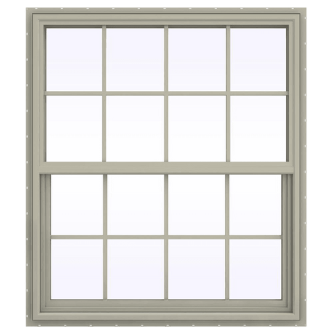 V-4500 Series Single Hung Vinyl Window with Grids