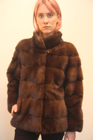 Scan Brown Mink Jacket