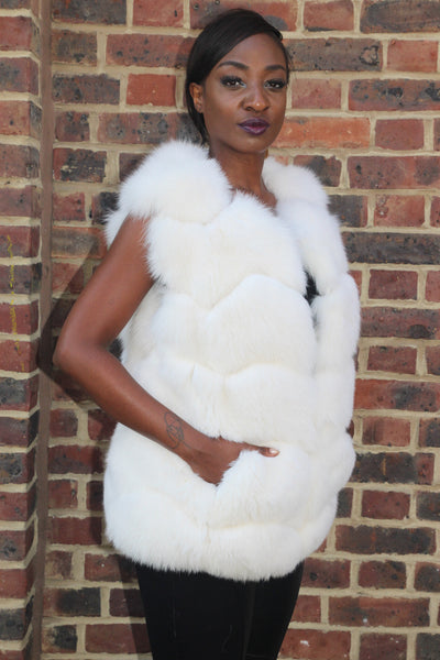 White Arctic Fox Gilet