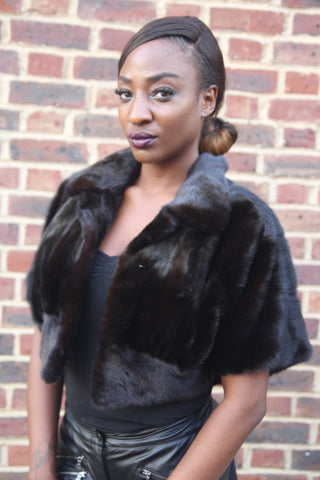 Dark Brown Mink Short Jacket