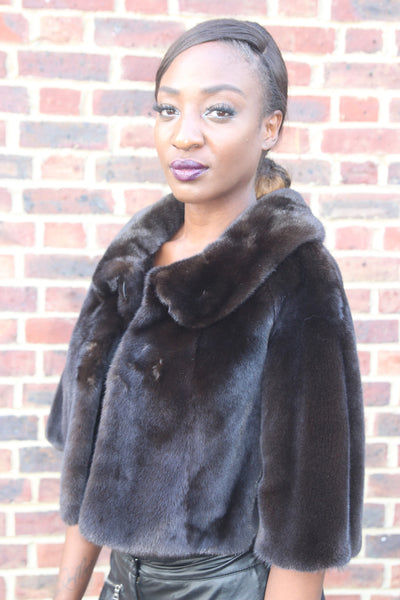 Short Brown Mink Jacket