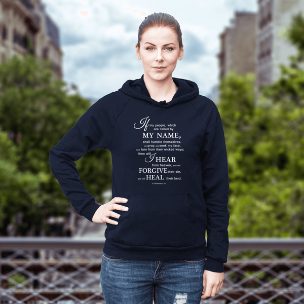 Navy - 2 Chronicles 7:14 Hoody
